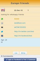 Screenshot of Find whatsApp Friends BBS