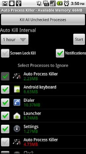 Auto Process Killer Free -2.0+ - screenshot thumbnail