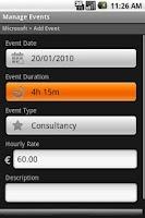 Screenshot of My Time Tracker