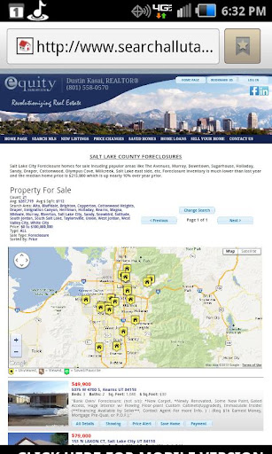 Utah Homes for Sale Map