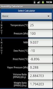 Humidity Calculator- screenshot thumbnail
