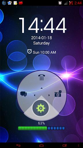 【免費個人化App】霓虹蓝高清GO锁屏主题-APP點子