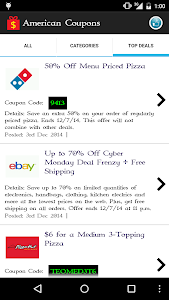 American Coupons screenshot 2