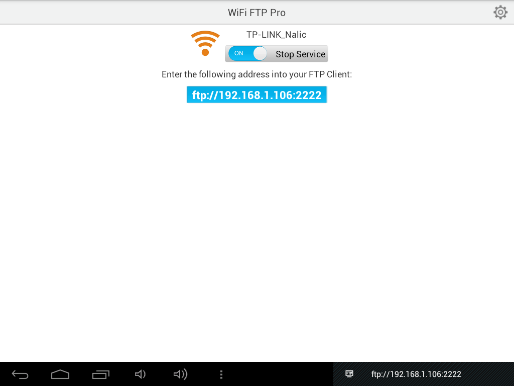 WiFi FTP (WiFi File Transfer) - screenshot