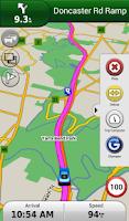 Screenshot of Garmin Navigator