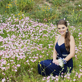 Spring flowers by Jim Lancaster - People Portraits of Women ( formal, woman, wildflower, dress, flowers, young lady )