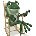 Frog Playing Guitar Rocking Li logo