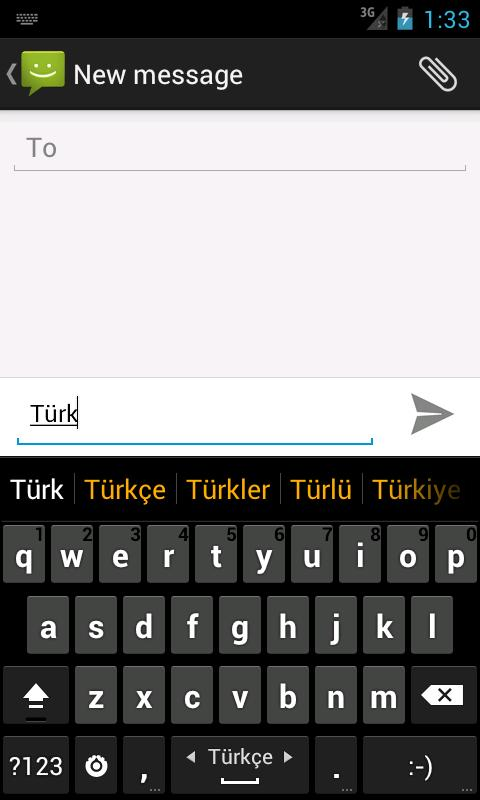 Turkish dictionary (Türkçe) - screenshot