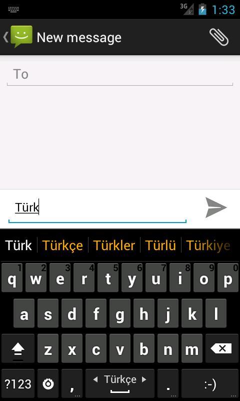 Turkish dictionary (Türkçe) - screenshot