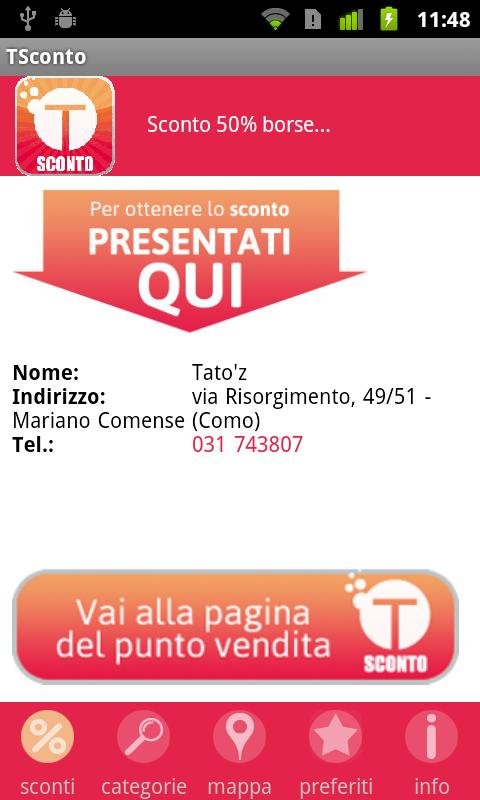 T-Sconto- screenshot