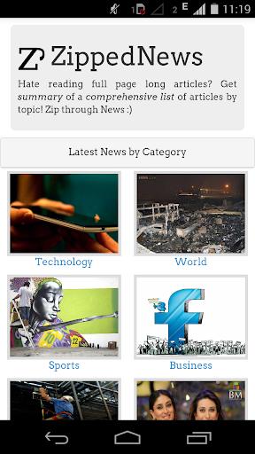 Zipped News News Summary