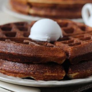 Light and Crispy Vanilla Protein Waffles.