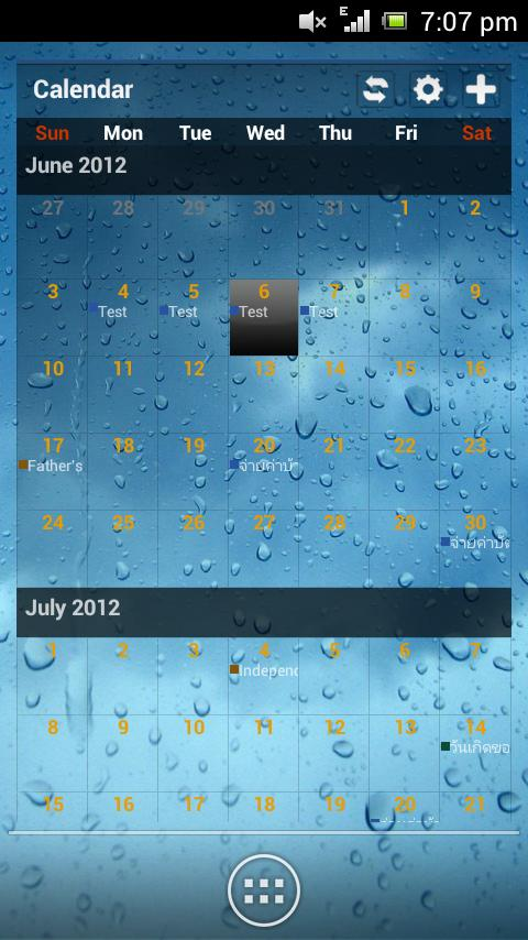 Wizz Theme Blue Transparent - screenshot