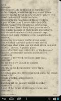 Screenshot of Romeo and Juliet - eBook