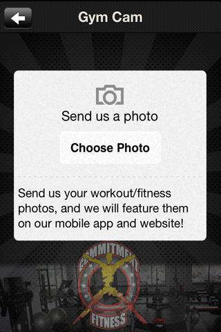Commitment Fitness- screenshot