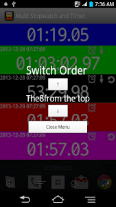 Multi Stopwatch & Timer  free screenshot 1