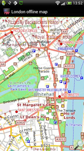 ロンドンのオフライン地図