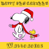 Wallpaper Happy Dog Cartoon