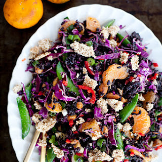 Orange + Almond Black Rice Salad.
