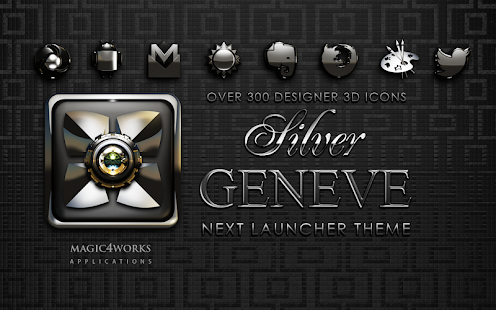 Next Launcher Theme Silver Gen