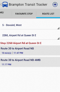 Brampton Transit Tracker - screenshot thumbnail