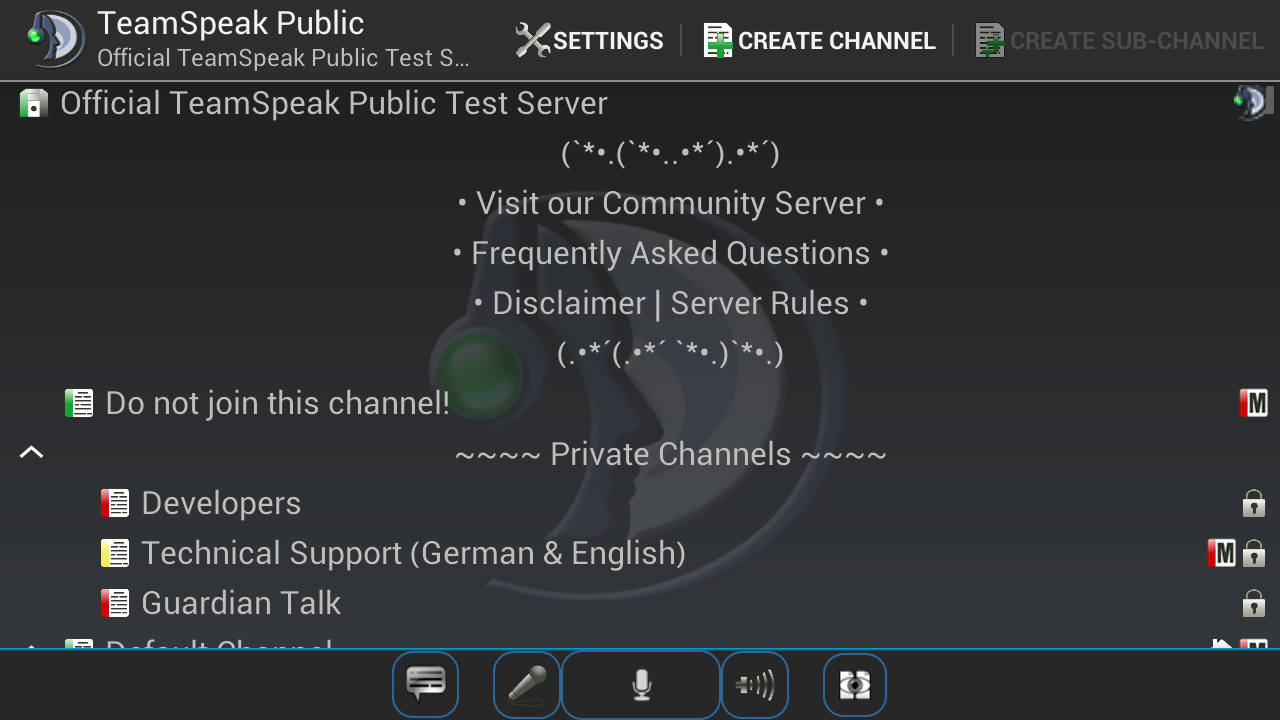 TeamSpeak 3- screenshot