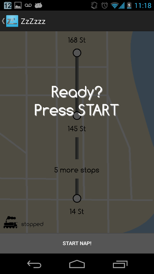 Metro Nap App for NYC Subway - screenshot