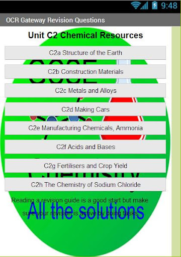 OCR GCSE Chemistry C2 Revision