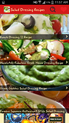 Salad Dressings Recipes - screenshot