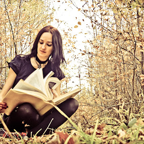 Gothic Girl Book Story by Ovidiu Porohniuc - People Portraits of Women ( story, girl, gothic, book,  )