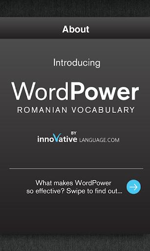Learn Romanian WordPower