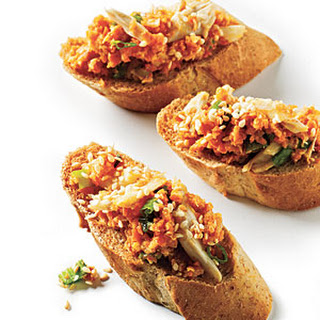 Crab Toast with Carrot and Scallion