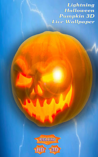 Lightning Halloween Pumpkin 3D