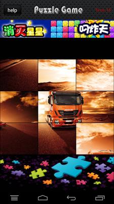Truck Highway Racing Jigsaw - screenshot