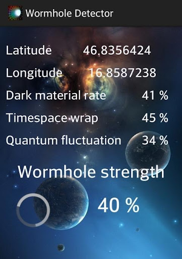 Wormhole Detector