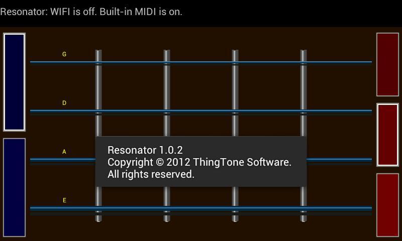 Resonator - MIDI Guitar- screenshot