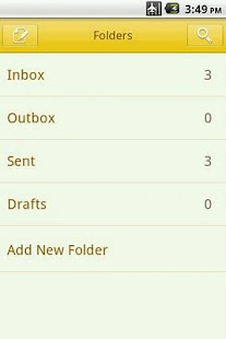 Easy SMS solid Yellow theme screenshot