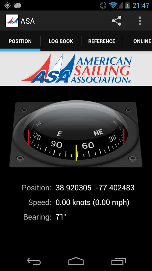 American Sailing Association - screenshot