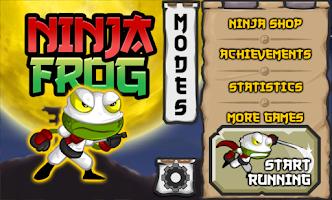 Screenshot of Ninja Frog Run