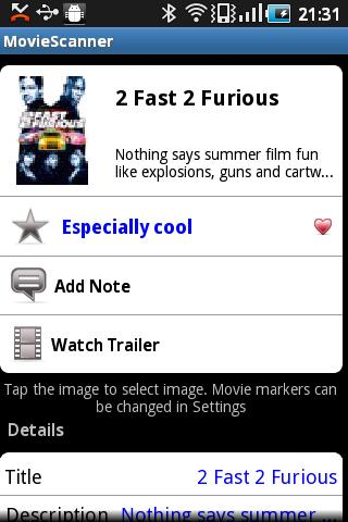 MovieScanner FREE- screenshot