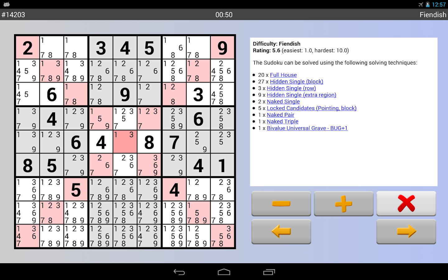 Sudoku Grab'n'Play Free - screenshot
