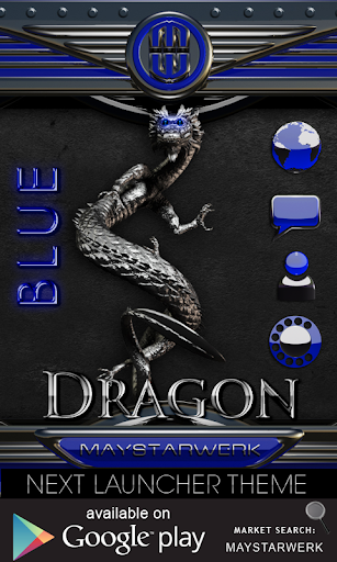 Next Launcher Theme dragon bl