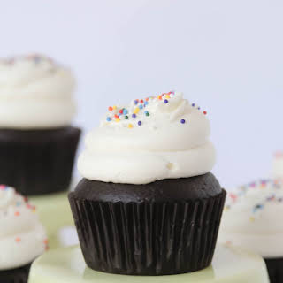 Double Chocolate Cupcakes and Crispy Magic Frosting.