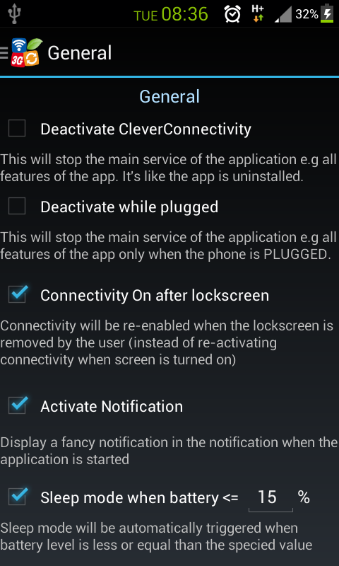 CleverConnectivity  +++Battery - screenshot