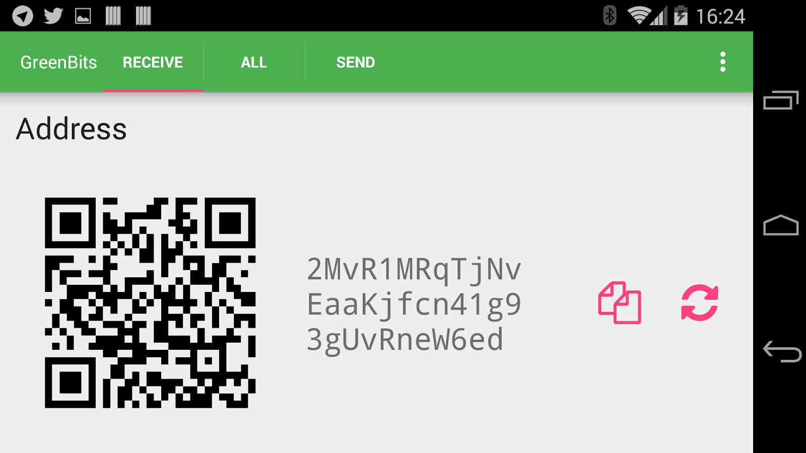 GreenBits Bitcoin Wallet- screenshot