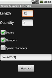 Simple Password Generator- screenshot thumbnail