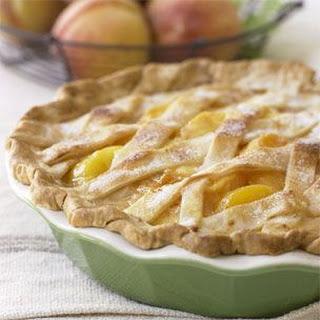 Latticed Peach Pie
