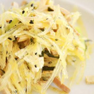 Braised Tofu with Orange Sesame Agar Salad