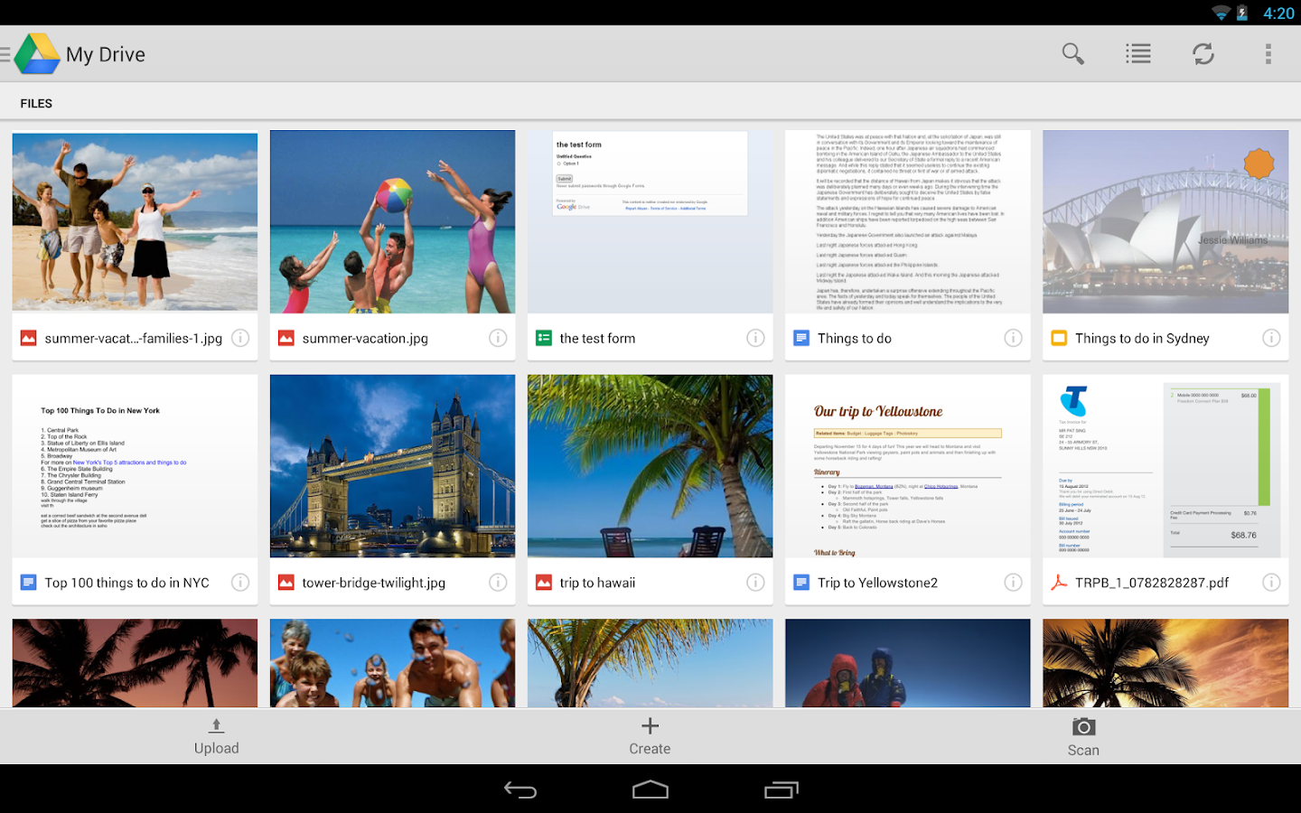 Google Drive - screenshot