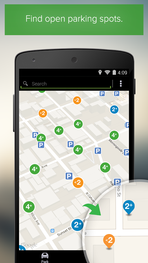 Parker, Find available parking - screenshot